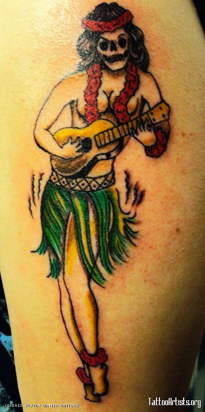 Sailor Jerry Hula Girl Tattoo - Tattoo Artists.org