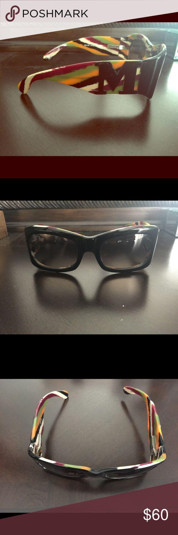 Vintage MISSONI sunglasses Vintage MISSONI sunglasses. Excellent vintage condition. Tiny scratch on the front of the bottom left frame - not noticeable. Missoni Accessories Sunglasses