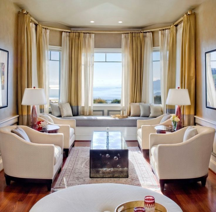 Extraordinary Pictures Of Window Seat Decoration Design Ideas : Stunning Living  Room Decoration WIth Grey Leather Cushion Bay Window Seat And Cream Velvet  ...