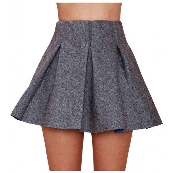 Box Pleat High Waist Skater Skirt (€21) ❤ liked on Polyvore featuring skirts, high-waisted skater skirts, high waisted pencil skirt, high-waisted maxi skirts, pencil skirts and high-waist skirt