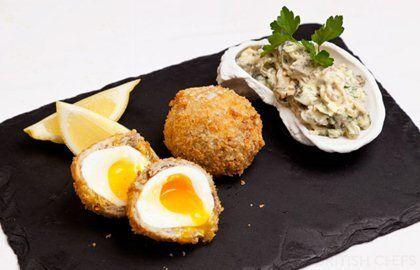 Smoked Mackerel Scotch Eggs with Tartare Sauce: Great British Chefs