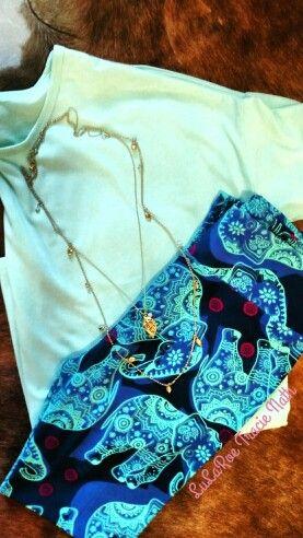 LuLaRoe Irma with beautiful LuLaRoe Elephant leggings! Gorgeous!