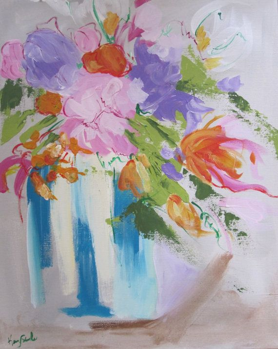 Original 16x20 floral still life framed by by KerrySteelefineart, $315.00