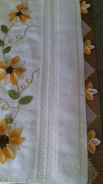 embroidery & tatted edging