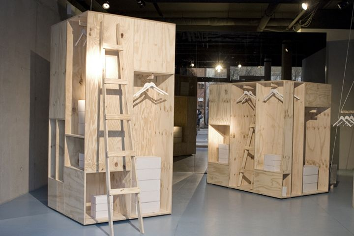 Zalandos temporary store modules. An installation that I believe would also suit Urban Outfitters and Anthropology.