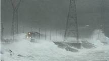 Crazy weather on the way to Cape Breton.
