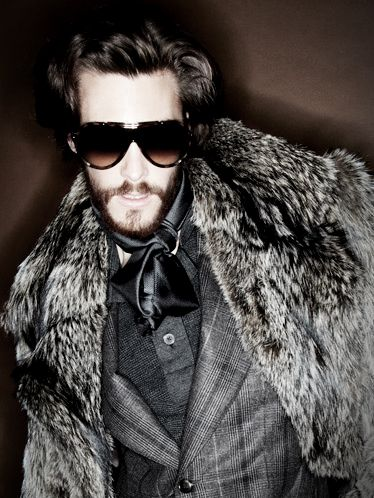 "Tom Ford Fox coat. So over the top. But I like a man who can ""go there"" every blue moon."