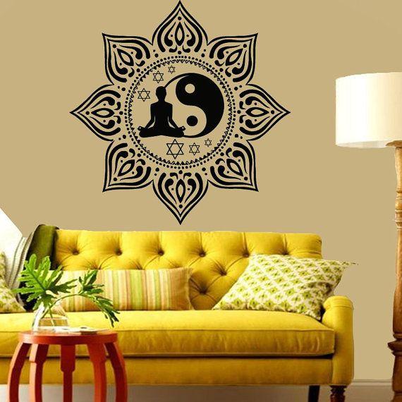 Best Meditation Yoga Indian Amulets Images On Pinterest - Zen wall decalsvinyl wall decal yin yang yoga zen meditation bedroom decor