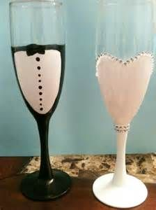 DIY Champagne Glasses for Wedding - Bing images