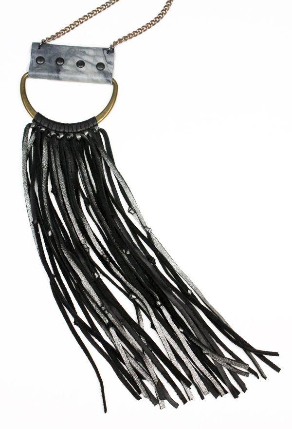 Fringe D-Ring Necklace