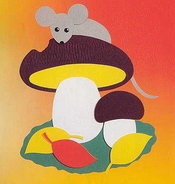 толстая гриб из цветной бумаги этом