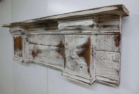 French Country Mantle Shelf Primitive Mantle by LynxCreekDesigns