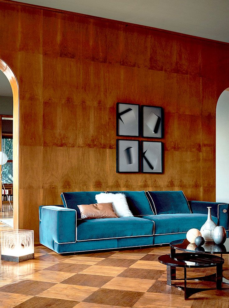 Fendi Casa Contemporary - Sloane sofa and Tolomeo coffee tables www.luxurylivinggroup.com #Fendi #LuxuryLivingGroup