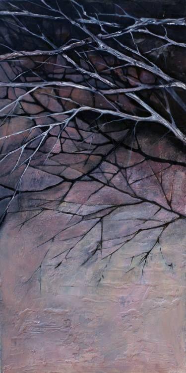 "Saatchi Art Artist Marjan Fahimi;  ""Winter Day"" - Oil on wood - 100x50 cm #art"