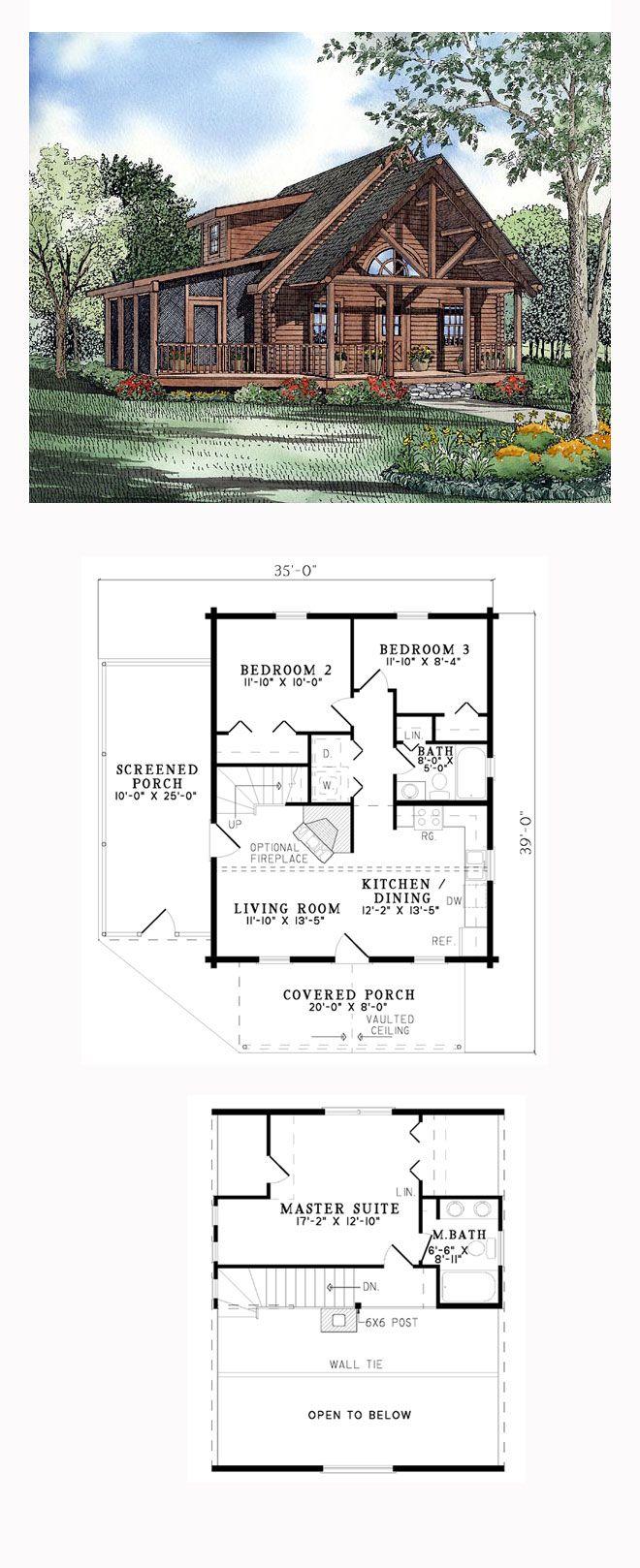 Log House Plan 61123
