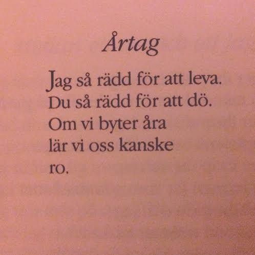 Margareta Ekström poesi. Årtag.