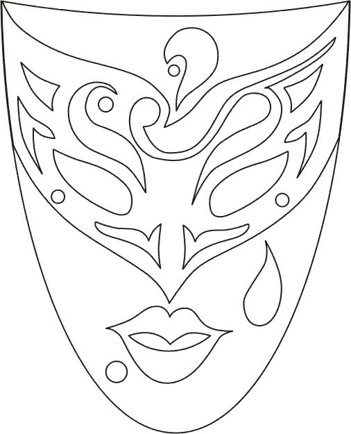 venetian_masks_1 Adult coloring pages                                                                                                                                                      More