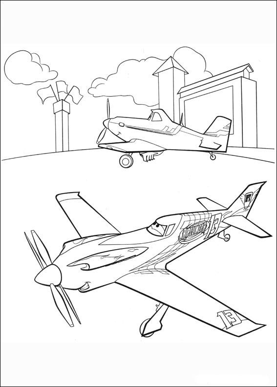 Desenhos para pintar Aviões 85