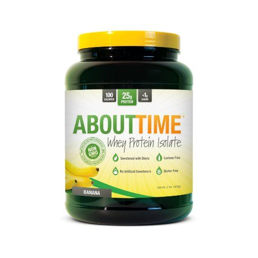 SDC Nutrition About Time Whey Protein Isolate, Banana, 2 Pound