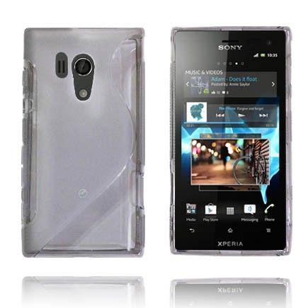 Transparent S-Line (Hvit) Sony Xperia Acro S Deksel