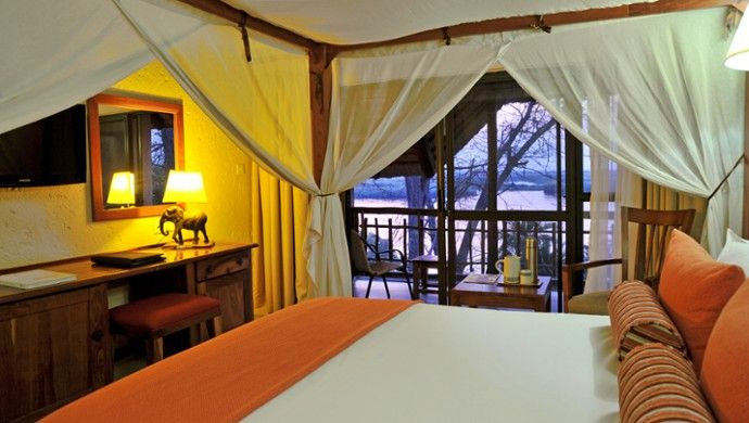 Cresta Mowana Safari: Contemporary bedrooms offer views over the Chobe River.