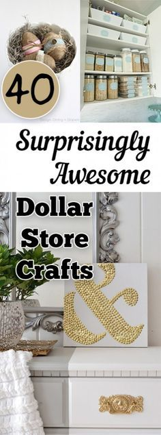 40-Surprisingly-Awesome-Dollar-Store-Crafts. DIY, DIY clothing, sewing patterns, quick crafting, tutorials, DIY tutorials.