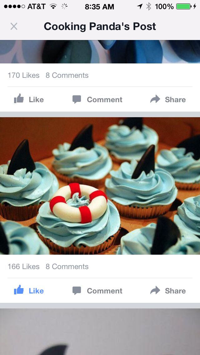Love these ocean cupcakes - especially the lifesaver ring/buoy