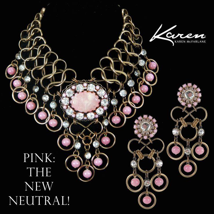 Pink: The New Neutral! Karen McFarlane Necklace (#1111n) & Earrings (#1085e)