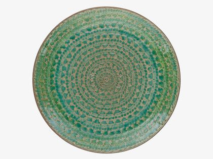 SINTRA GREENS Stoneware Green side plate - HabitatUK