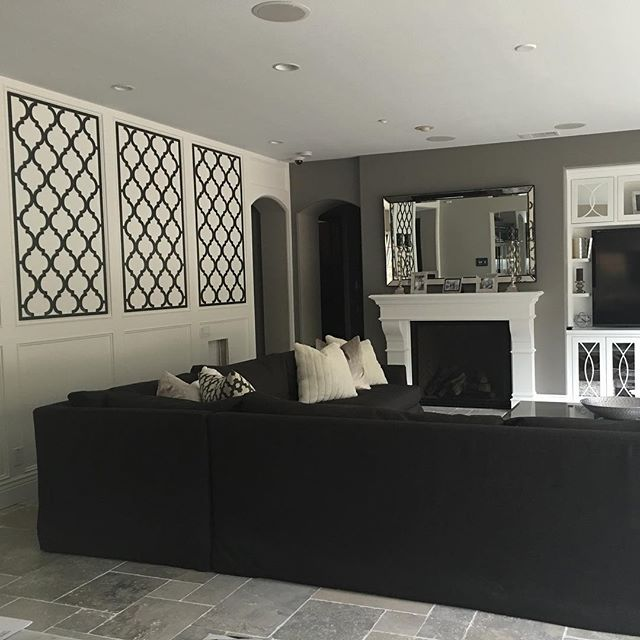 Pin for Later: Tarek and Christina El Moussa's Sweet Family Moments Will Make You Melt When They Shared This Peek Into Their Stylish Living Room