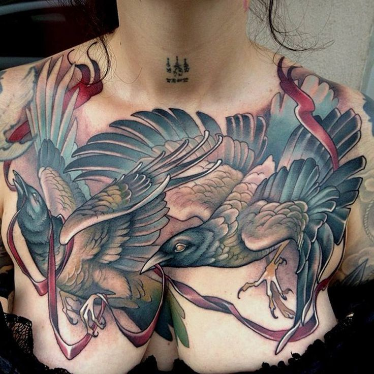 Image Result For Grant Lubbock Bird Tattoo Girl Tattoos Crow Tattoo Chest Tattoo