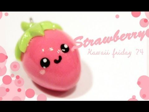 ◕‿‿◕Kawaii Strawberry! -Tutorial on polymer clay