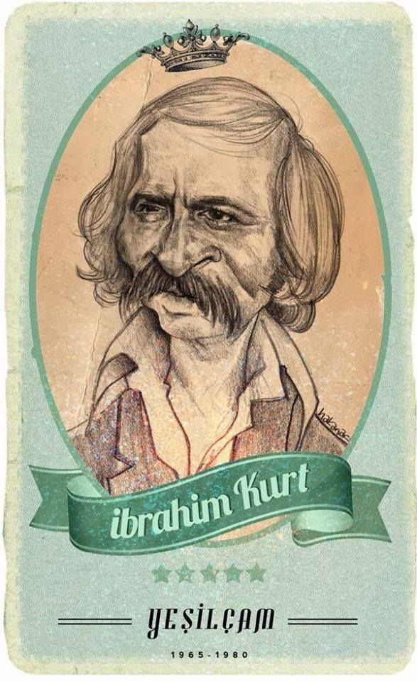 #Yesilcam Turkish Cinema Actor İbrahim Kurt #Illustration by Hakan Arslan
