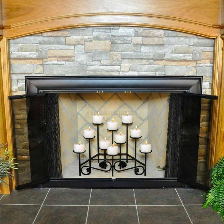 Best fireplace candle holder ideas on pinterest
