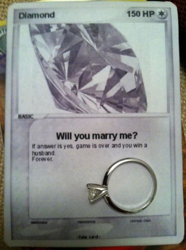20 Seriously Bizarre Marriage Proposals 26 - https://www.facebook.com/diplyofficial - sooooooo nerdily cute