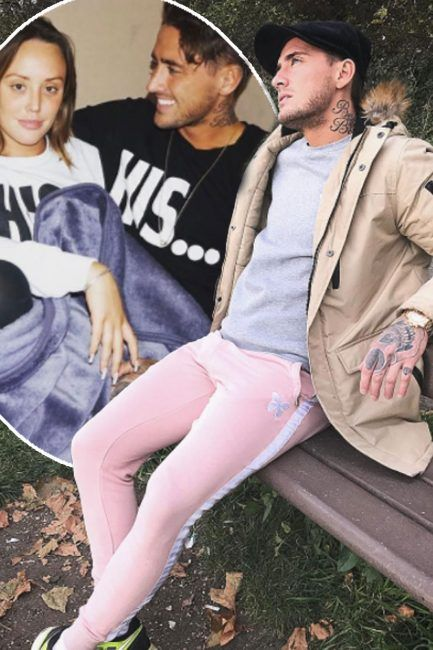 Stephen Bear leaves fans BAFFLED by his latest fashion move after he sports pink tracksuit bottoms as fans question whether hes wearing ex Charlotte Crosbys clothes: What is he thinking?