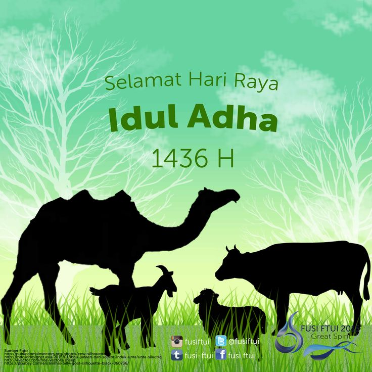 Selamat Hari Raya Idul Adha :) Taqabbalallahu minna wa minkum #IedMubarak