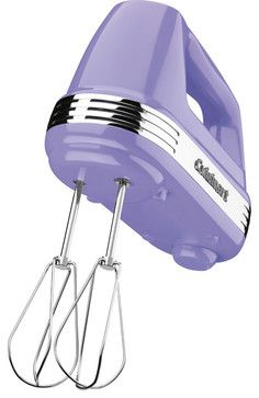 WAUW!!! Cuisinart Power Advantage 5-Speed 220-Watt Hand Mixer, Lavender - contemporary - blenders and food processors - HPP Enterprises