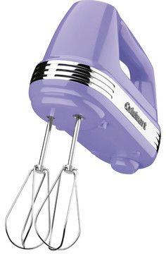WAUW!!! Cuisinart Power Advantage 5-Speed 220-Watt Hand Mixer, Lavender - contemporary - blenders and food processors - HPP Enterprises