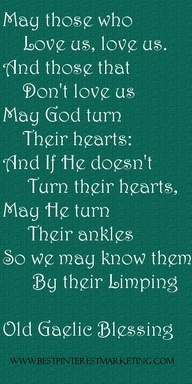 Old Gaelic blessing
