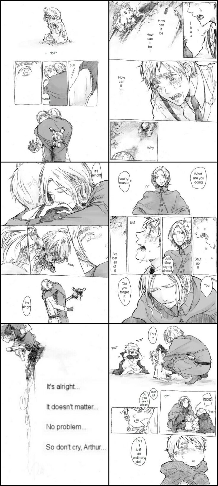 Fruk Doujinshi - France (Francis Bonneyfoy) & England (Arthur Kirkland)  I dont know who this is belongs but it 's truly made my heart ache