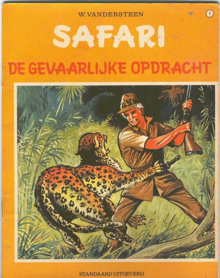 Ondanks de prachtige coverillustratie van Karl Dill vind ik de SAFARI reeks van Studio Vandersteen zeer matig. En vooral overbodig. Net als de KARL MAY reeks.