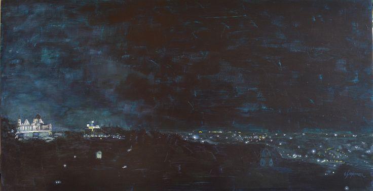 Night from Debod temple. carlos ferGo. 80 x 40
