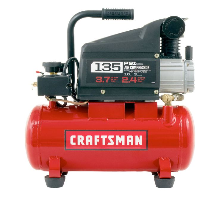 Craftsman 3 Gal. Oil Lube Air Compressor Makes The Job Quick and Easy