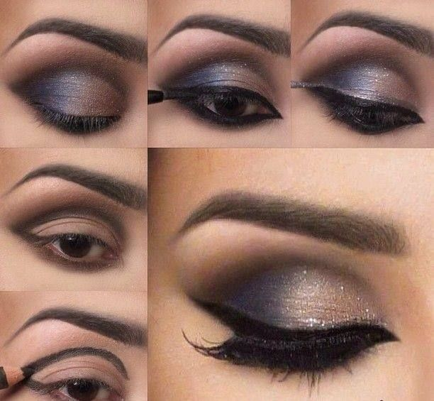 I like this but a shimmery brown version for the wedding day! 11 Great Makeup Tutorials for Different Occasions: Night Out Look