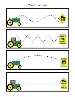 Practice tracing. We love tractors!
