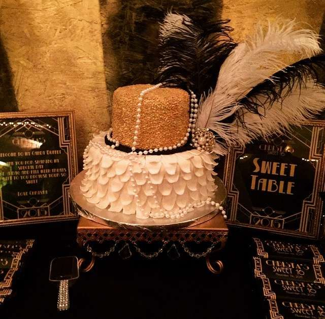incredible cake at a great gatsby party see more party