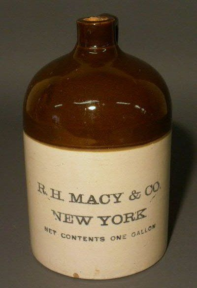 134 One Gallon Stoneware Jug R H Macy Amp Co New York