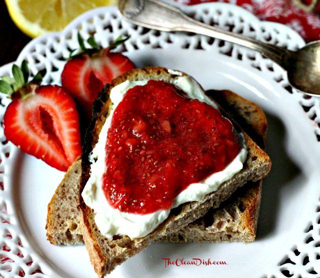 Strawberry Chia Jam (raw, processed sugar free, gluten-free, grain-free)