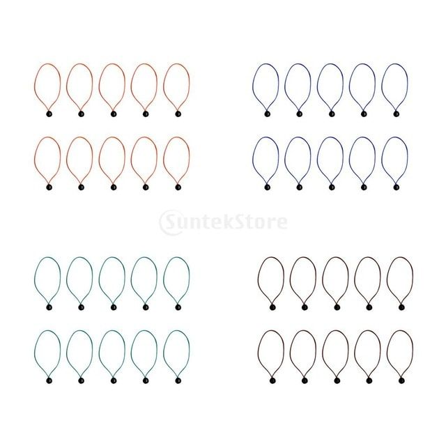 10pcs 24cm Strong Elastic Ball Bungee Cord Tent Awning Tarp Tie Down Loop